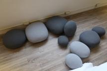 鵝卵造型的坐墊非常軟,好喜歡